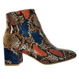 Step Out in Gorgeous Snake Booties | New With Box